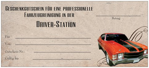 Gutschein Driver-Station