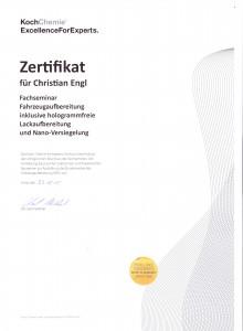 Koch-Zertifikat Christian Engl