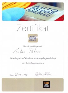 Zertifikat Autopflegeforum