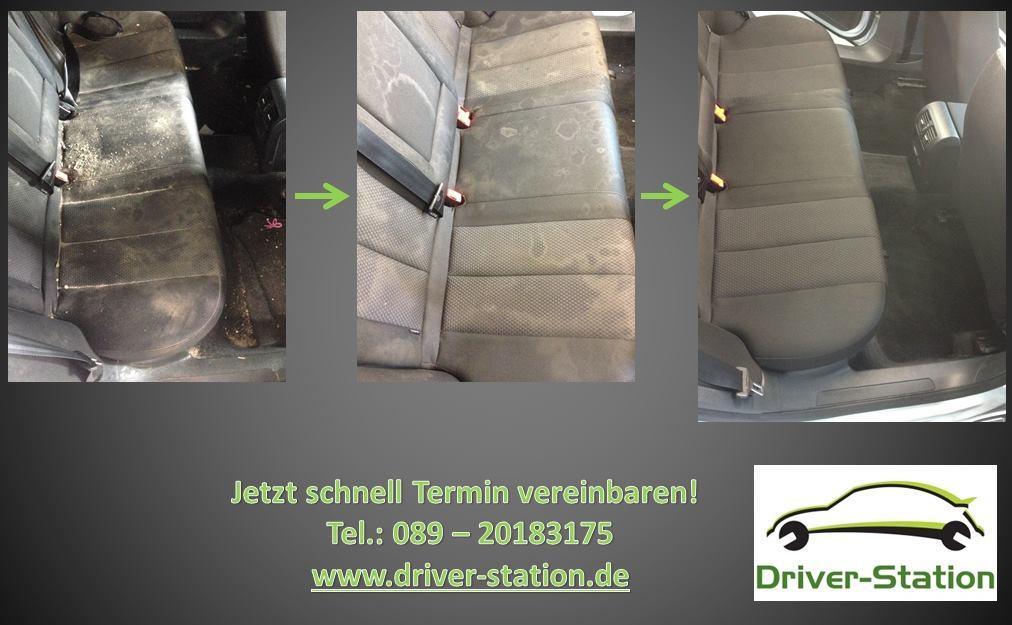 Polsterwäsche vorher nachher - Driver Station München