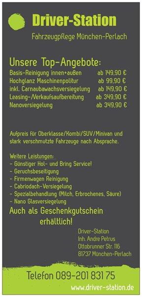 Autopflege Driver-Station München Perlach - unsere Top-Angebote