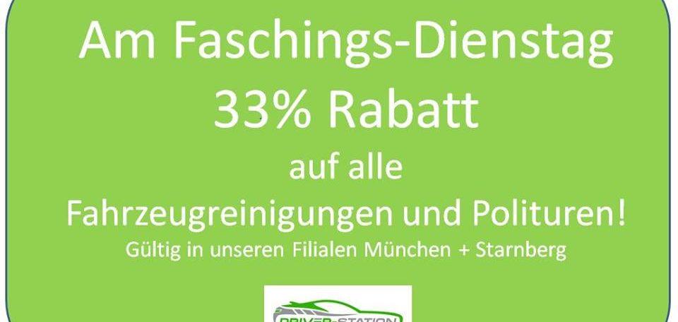 Aktion Fasching Autopflege Autowerkstatt Driver Station München Starnberg