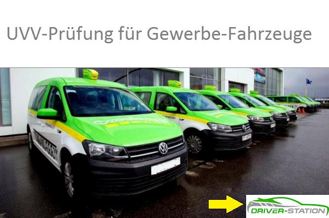 UVV Prüfung DGUV Vorschrift 70 Driver-Station München Starnberg