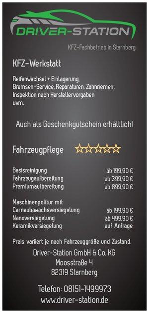 Driver-Station Starnberg und München - unsere Top-Angebote